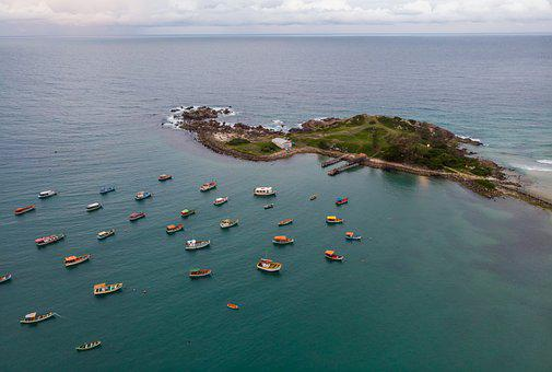 Boats, Sea, Island, Ocean, Fishing Boats, Seascape