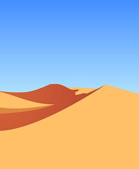 Landscape, Desert, Sand, Dunes, Arid Land, Scenery