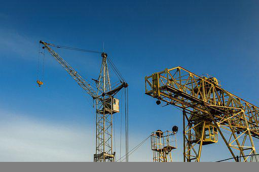 Crane, Structure, Machinery, Building, Growth, Metal
