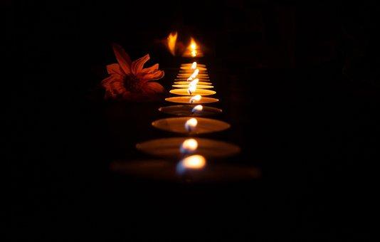 Oil Lamp, Candles, Flames, Light, Decorative