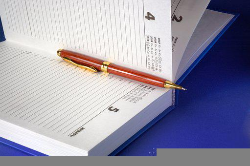 Pen, Notebook, Paper, Note, Business