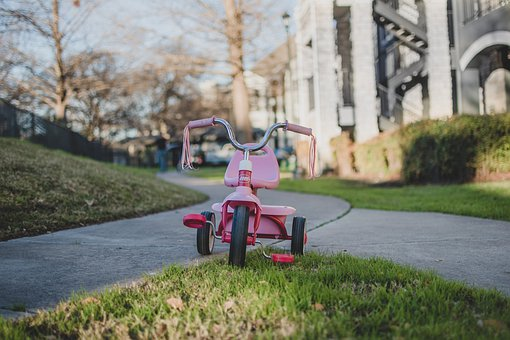 Tricycle, Bike, Toy, Pink Bike, Children's Toy, Play