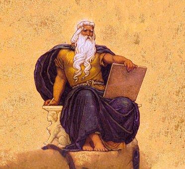 Zeus, God, Greek God, Greek, Man, Portrait, King