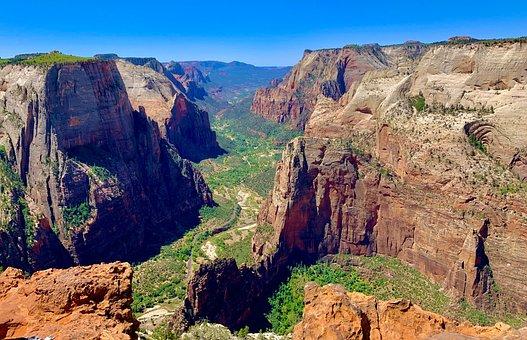 Landscape, Canyon, Cliff, Sandstone, Mountains