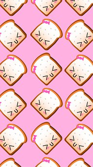 Background, Bread, Pattern, White Bread, Food, Snack
