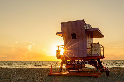 Lifeguard House, Beach, Miami, Florida, Miami Beach