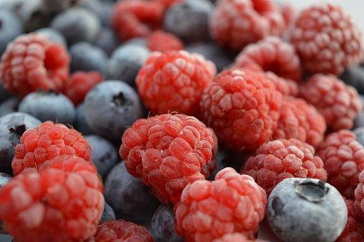Raspberries, Blueberries, Berries, Fresh Berries
