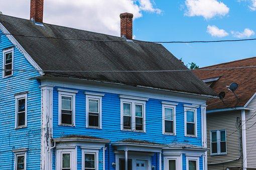House, Wood, Chimney, Windows, Sky