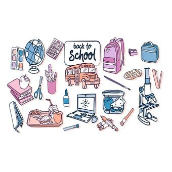 Back To School, Icons, School Icons, School Bus