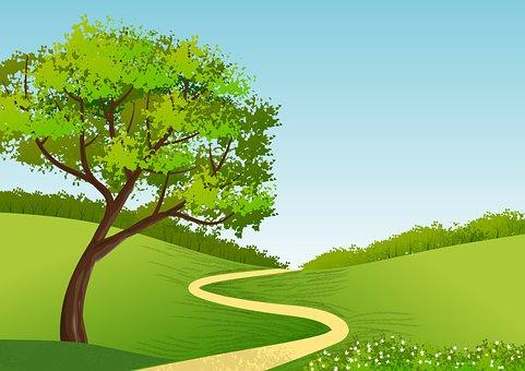 Landscape, Nature, Trail, Path, Pathway, Tree, Foliage