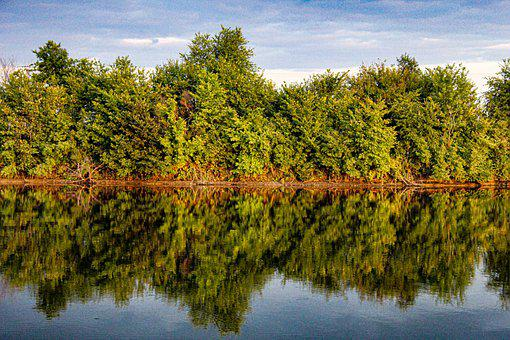 Lake, River, Nature, Countryside, Trees