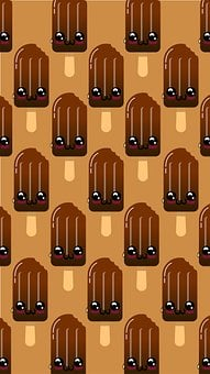Background, Popsicle, Pattern, Ice Pop, Chocolate