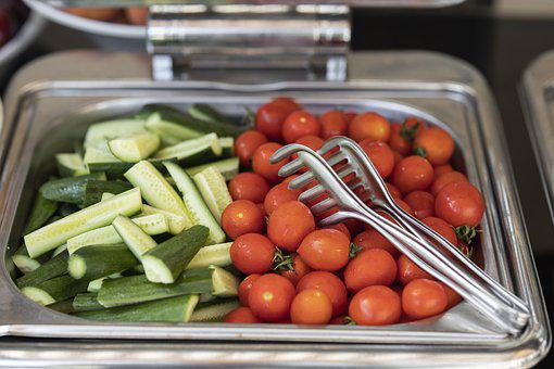 Salad, Vegetables, Fresh Vegetables, Tomatoes