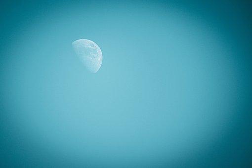 Moon, Sky, Full Moon, Wallpaper