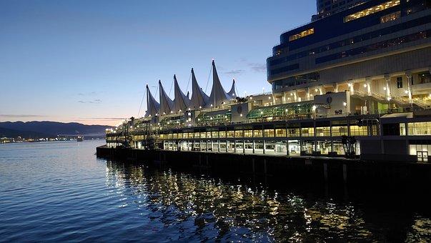 Vancouver, Port, Port Of Vancouver, Sunrise, Dawn