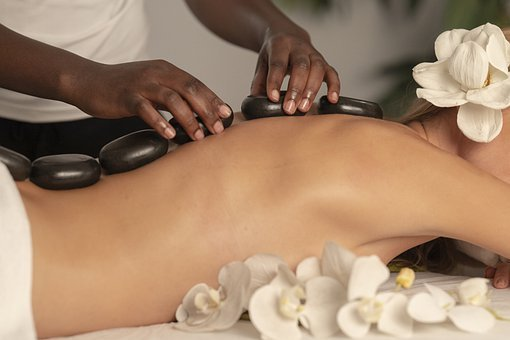 Massage, Spa, Stones, Therapy, Body, Woman
