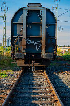 Train, Rails, Graffiti, Train Tracks, Railroad, Railway