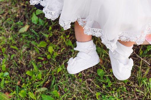 Baby, Shoes, Baptismal, Baptismal Dress