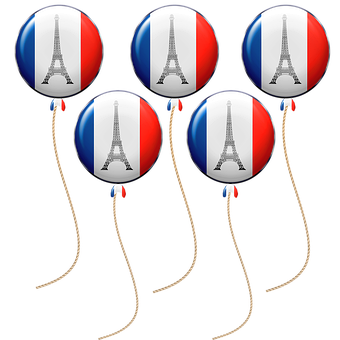 French Flag, Balloons, Eiffel Tower, Tower, France