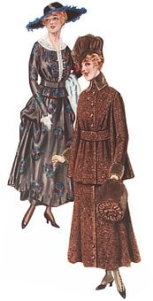 Women, Suit, Fashion, Dress, Skirt, Hat, Heels, Vintage