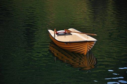 Boat, Row Boat, Rowing Boat, Paddles, Lake, Rowing