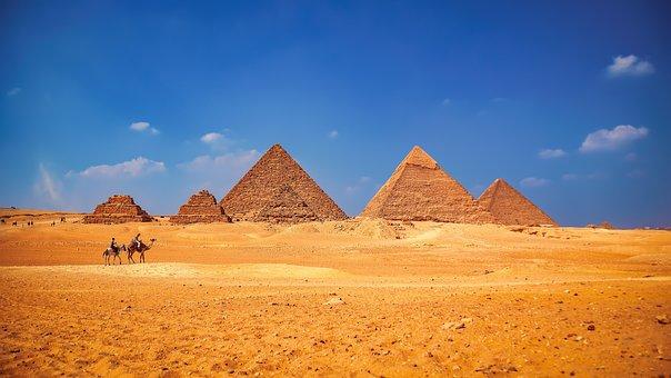 Landscape, Pyramids, Desert, Sand, Monument, Ancient