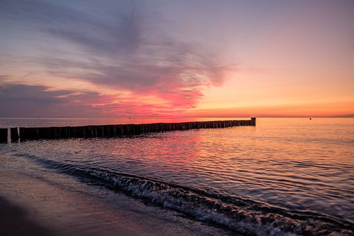 Seascape, Sea, Pier, Wooden Pier, Water, Beach, Ocean
