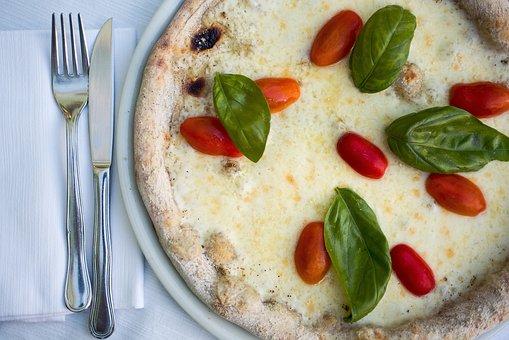 Pizza, White Pizza, Margherita Pizza, Fresh Basil