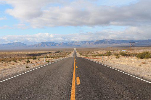 Landscape, Road, Desert, Roadway, Drive, Countryside