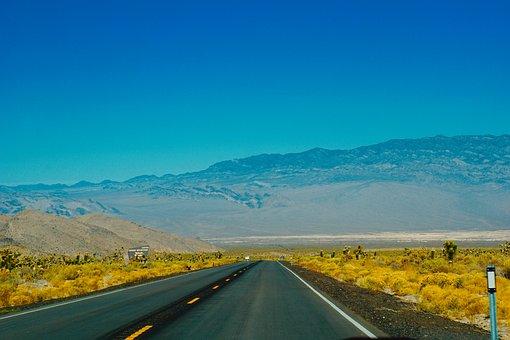 Landscape, Road, Mountains, Roadway, Drive