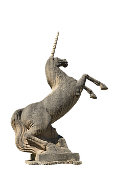 Unicorn, Statue, Horse, Mythical Creature, Sculpture