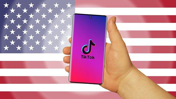 Tiktok, App, Usa, Flag, Smartphone, Mobile Phone, Phone