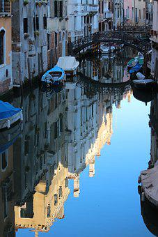 Canal, Waterway, Channel, Water, Water Reflection