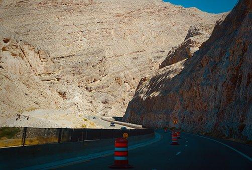 Mountains, Road, Highway, Rocks, Gorge, Trip, Adventure