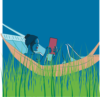 Woman, Hammock, Forest, Grass, Book, Mask, Quarantine