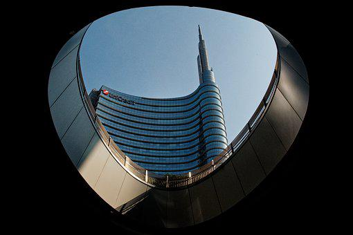 Milan, Building, Gratte Ciel, Tower, Post-modern