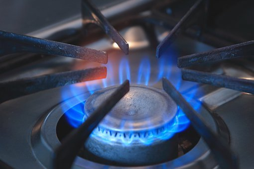 Stove, Burner, Flame, Fire, Blue Flame, Gas, Gas Range