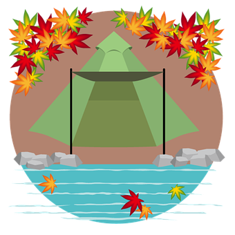Autumn Season, Icon, Camp, Tent, Camping Tent