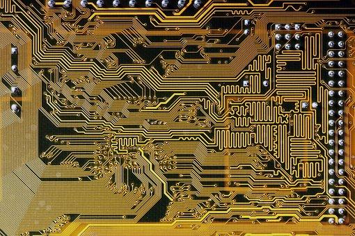 Circuit, Board, Electronics, Gaps, Lines