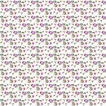 Background, Pattern, Floral, Flowers, Peonies, Birds