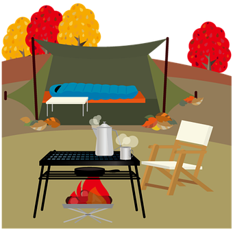 Autumn Season, Camp, Barbecue, Barbecue Icon, Grill