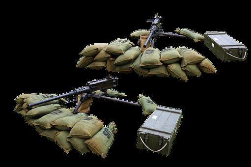 Machine Guns, Sandbags, Ammunition, Dirtbags, Icons