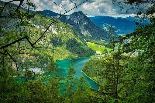 Lake, Mountains, Mountain Range, Valleys