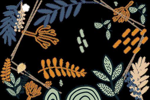 Flowers, Leaves, Plants, Floral, Vintage, Nature