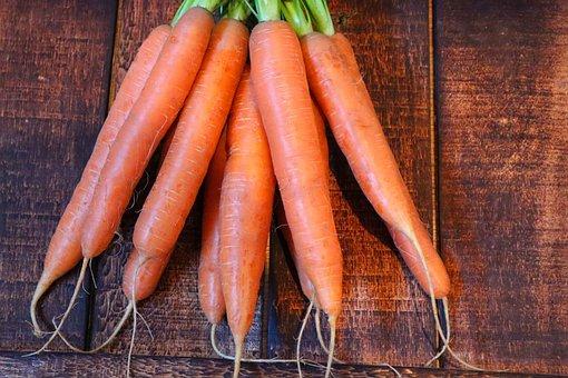 Carrots, Vegetables, Root Crops, Harvest