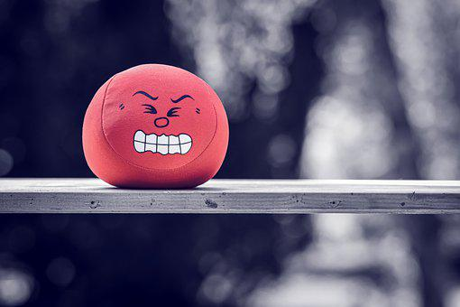 Ball, Stress Ball, Emotion, Angry, Smiley, Emoticon