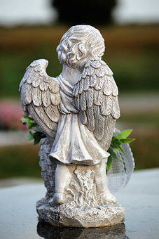 Stone Angel, Angel, Figurine, Little Angel, Statuette