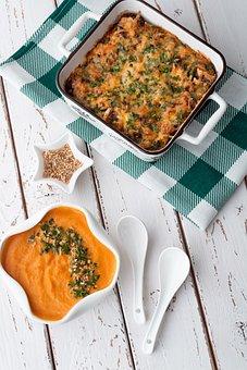 Meal, Dish, Vegetables, Plate, Casserole, Sweet Potato
