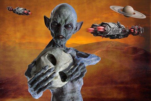 Alien, Spaceships, Ufo, Extraterrestrial