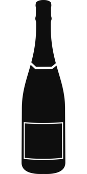Champagne, Bottle, Icon, Champagne Bottle